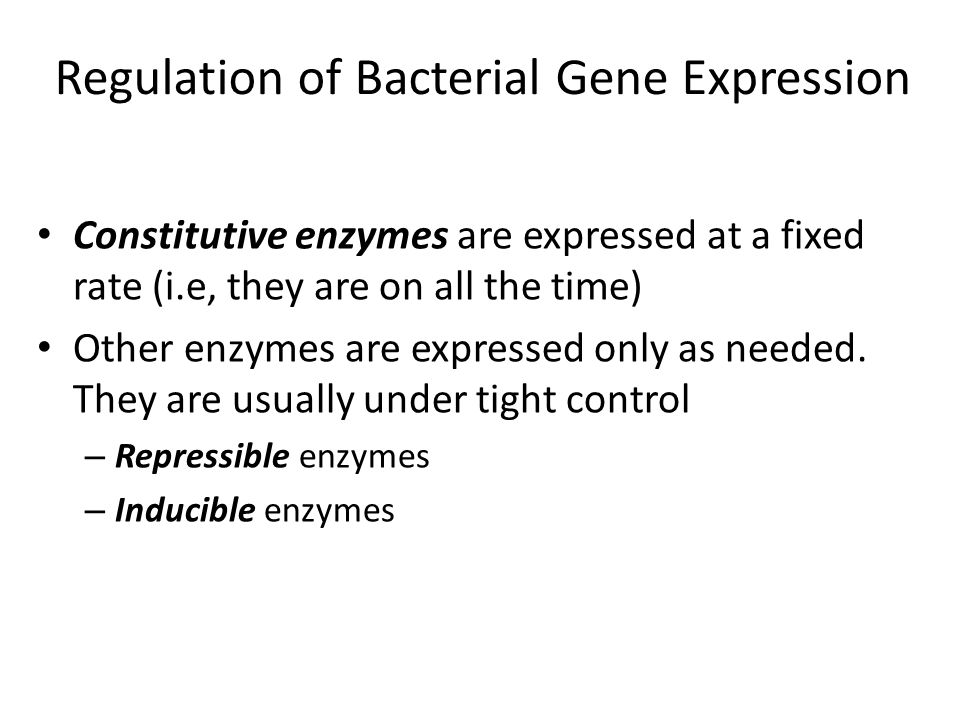 Groups of coordinately expressed and regulated genes are called operons Regulatory proteins bind to operators Transcription can be turned on or off Regulation of Transcription