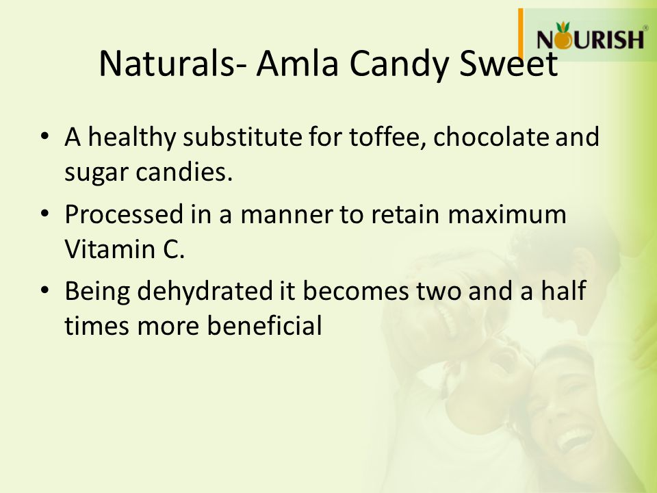 Naturals- Amla Candy Sweet A healthy substitute for toffee, chocolate and sugar candies. Processed in a manner to retain maximum Vitamin C. Being dehy