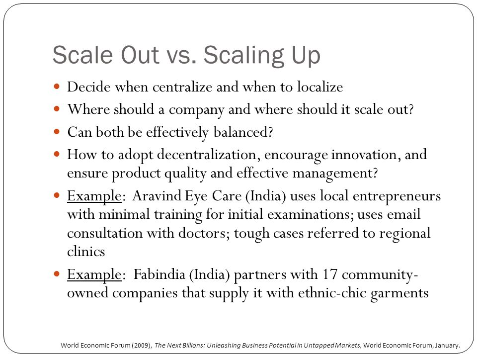Scale Out vs.