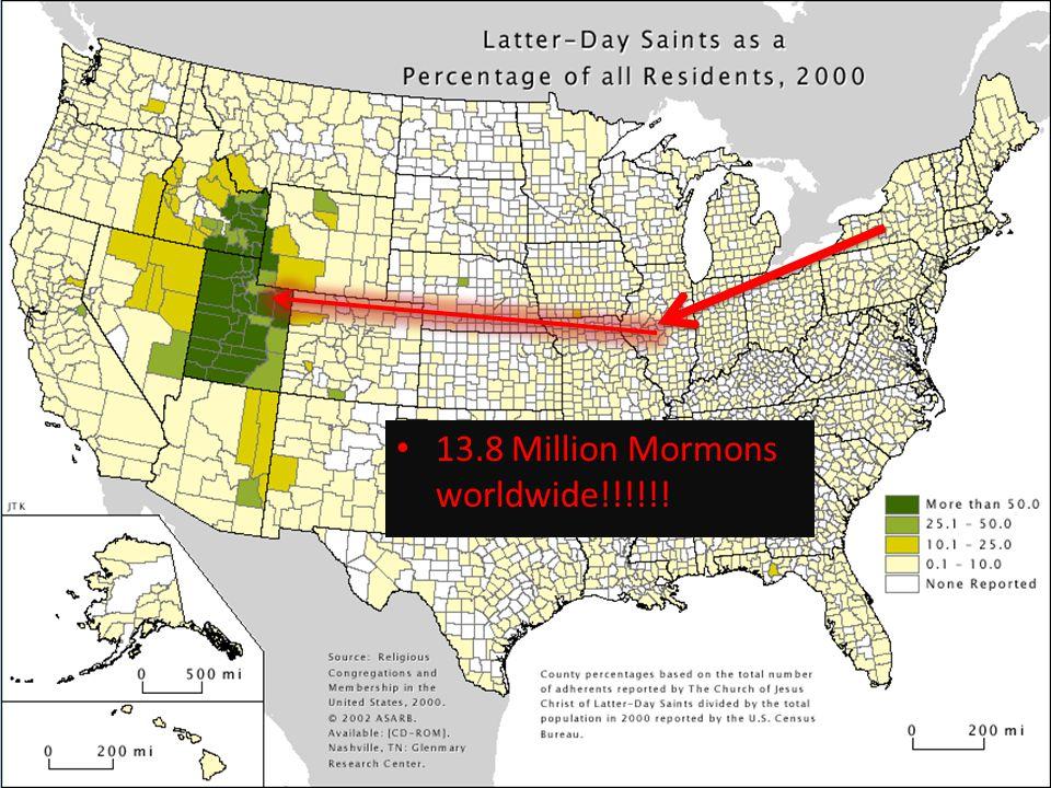13.8 Million Mormons worldwide!!!!!!