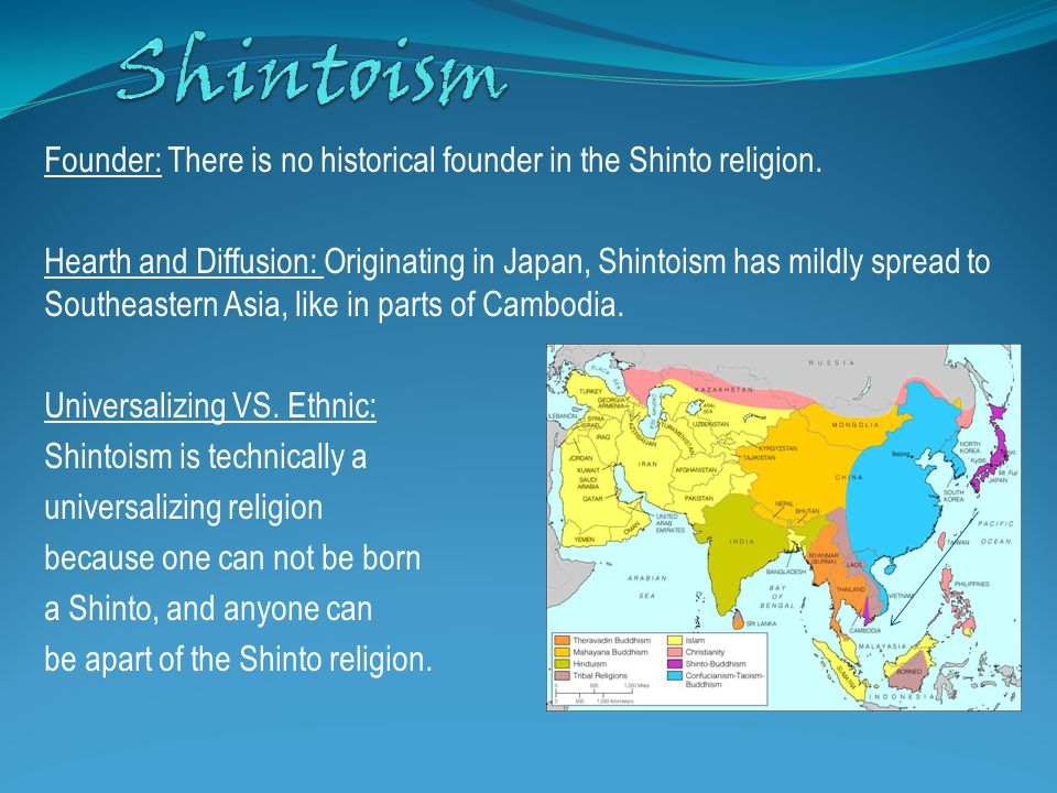 Founder: There is no historical founder in the Shinto religion.