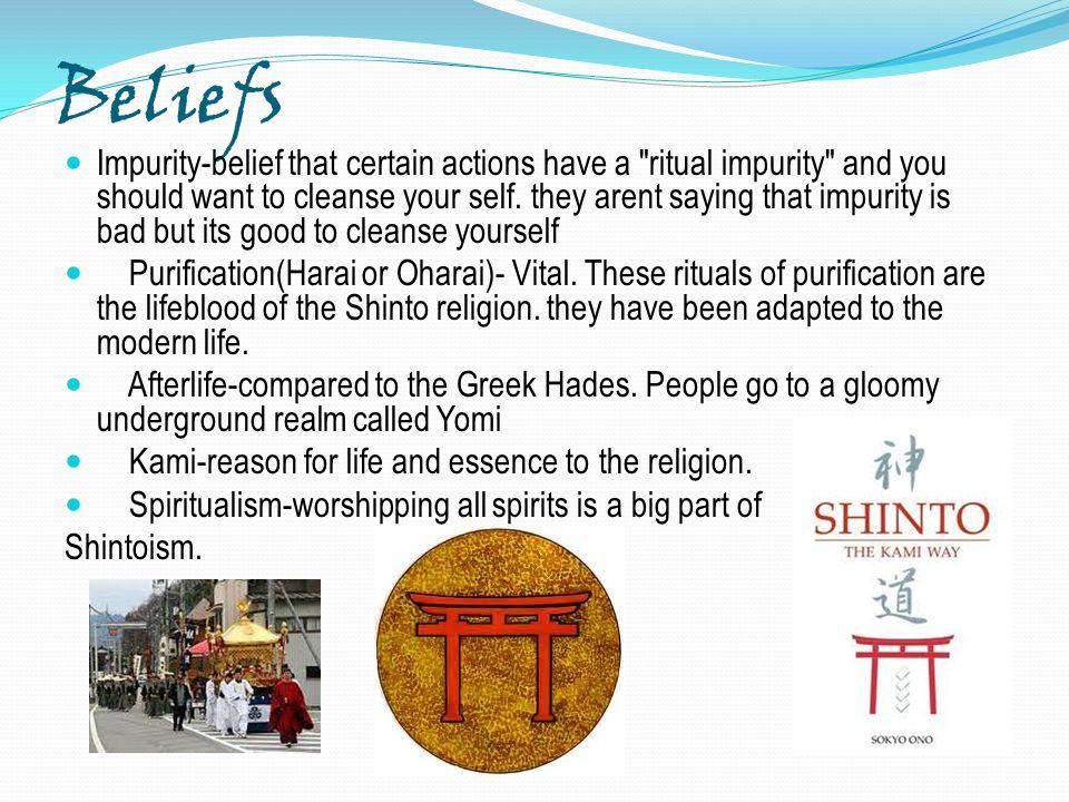Beliefs Impurity-belief that certain actions have a