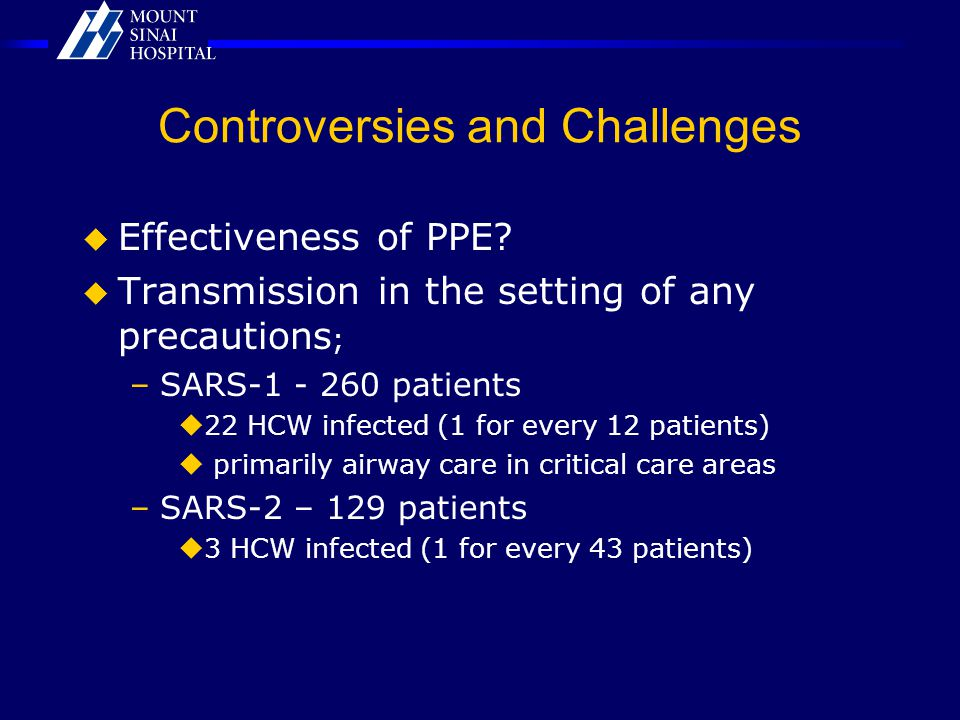 Controversies and Challenges  Effectiveness of PPE.