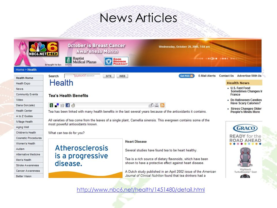 News Articles http://www.nbc6.net/health/1451480/detail.html