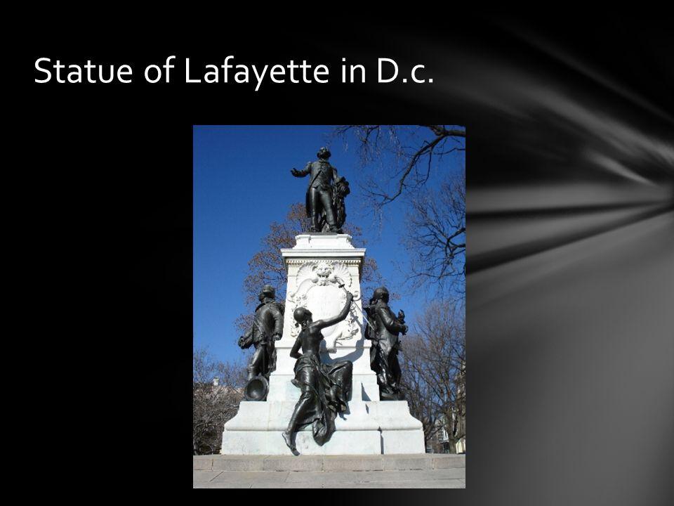 Statue of Lafayette in D.c.