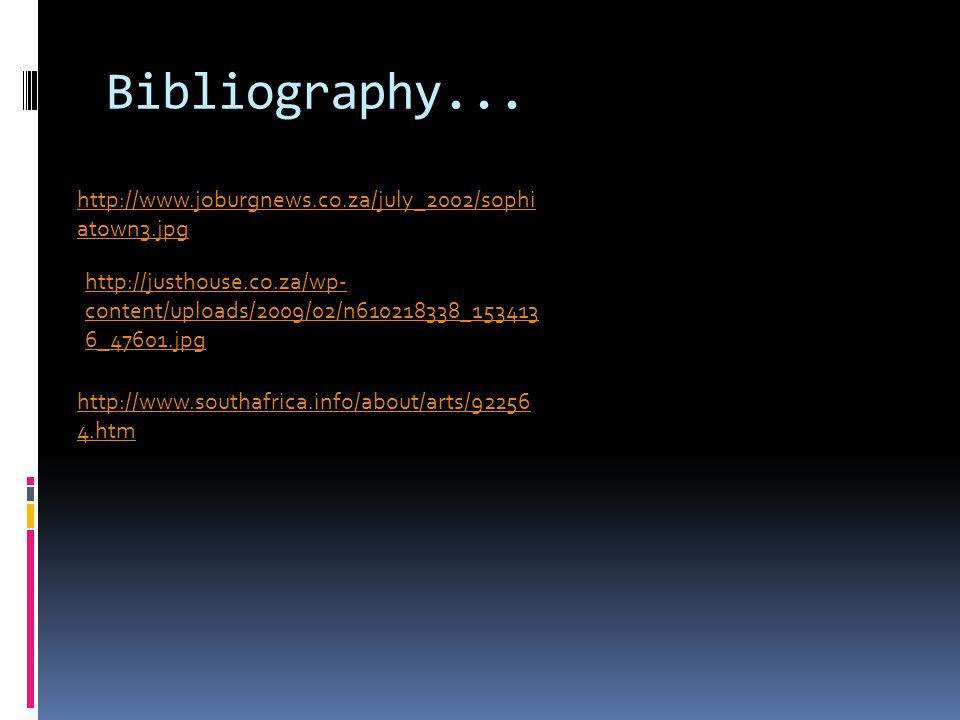 Bibliography...