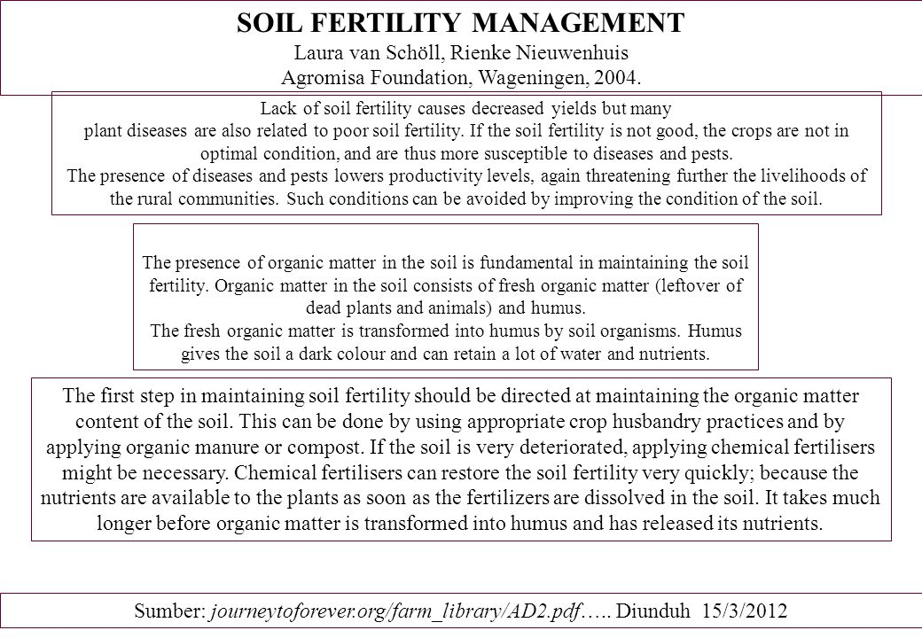 Crop husbandry measures Crop husbandry measures refer to methods the farmer can use before, during and after the growing season that do not require the addition of a new component to his business nor the purchase of many extra inputs (just sowing or planting materials).