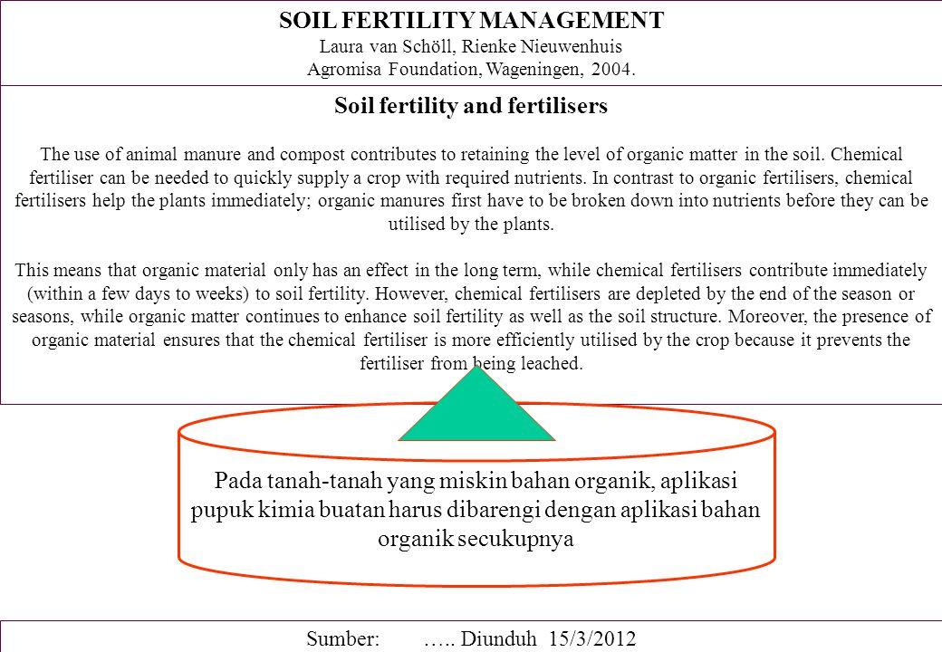 PENGELOLAAN BAHAN ORGANIK TANAH But not all soil organic matter is equal.