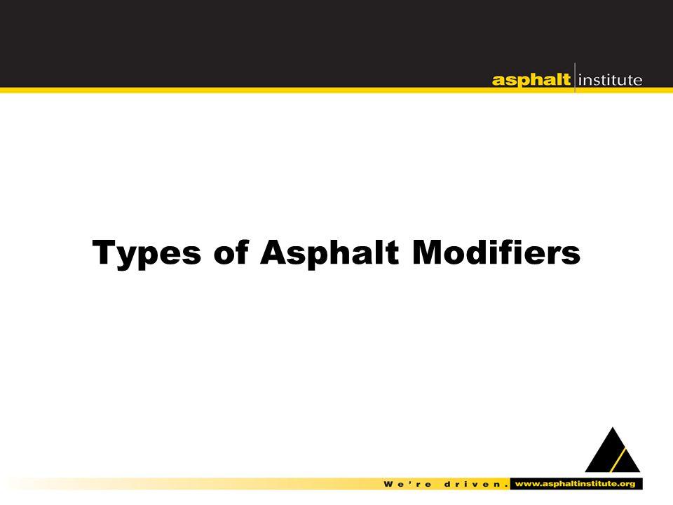 Types of Asphalt Modifiers