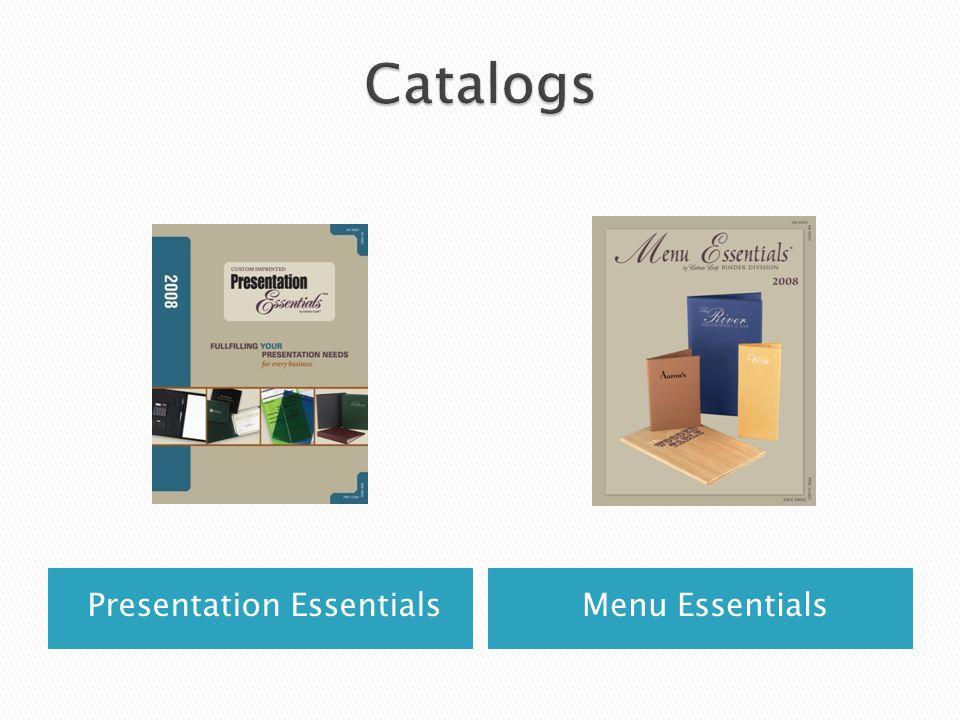Presentation EssentialsMenu Essentials
