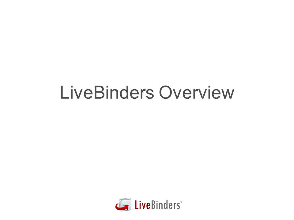 LiveBinders Overview