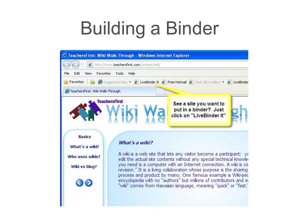 Building a Binder