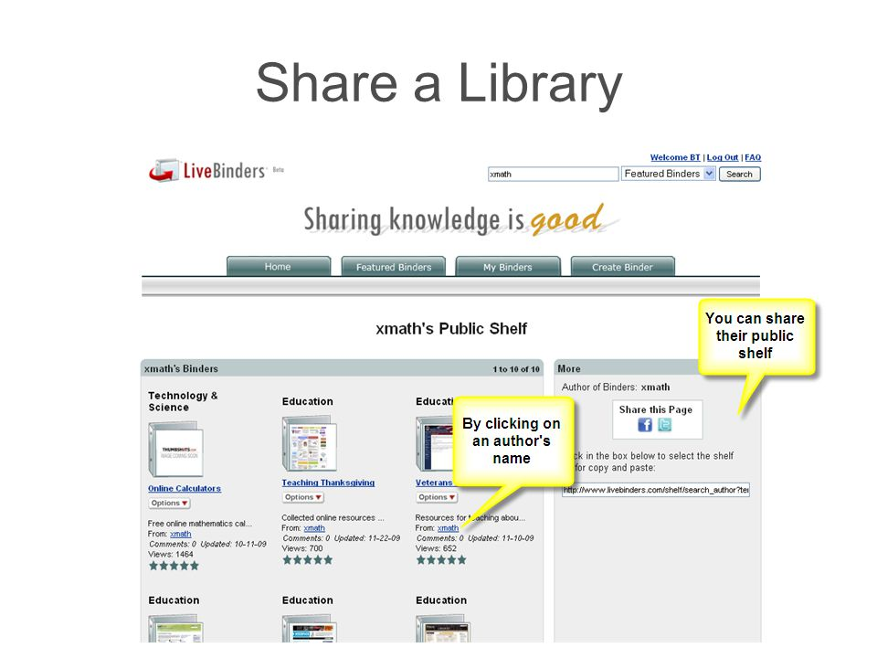 Share a Library