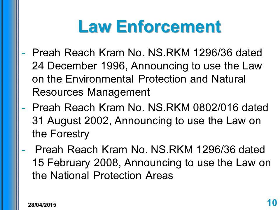 Law Enforcement -Preah Reach Kram No.