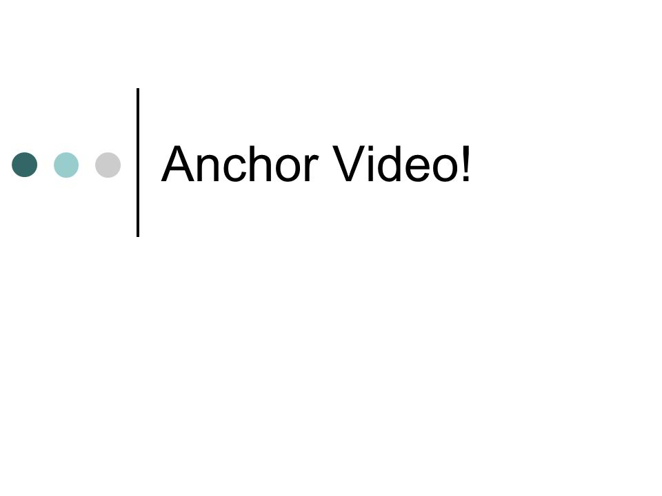 Anchor Video!