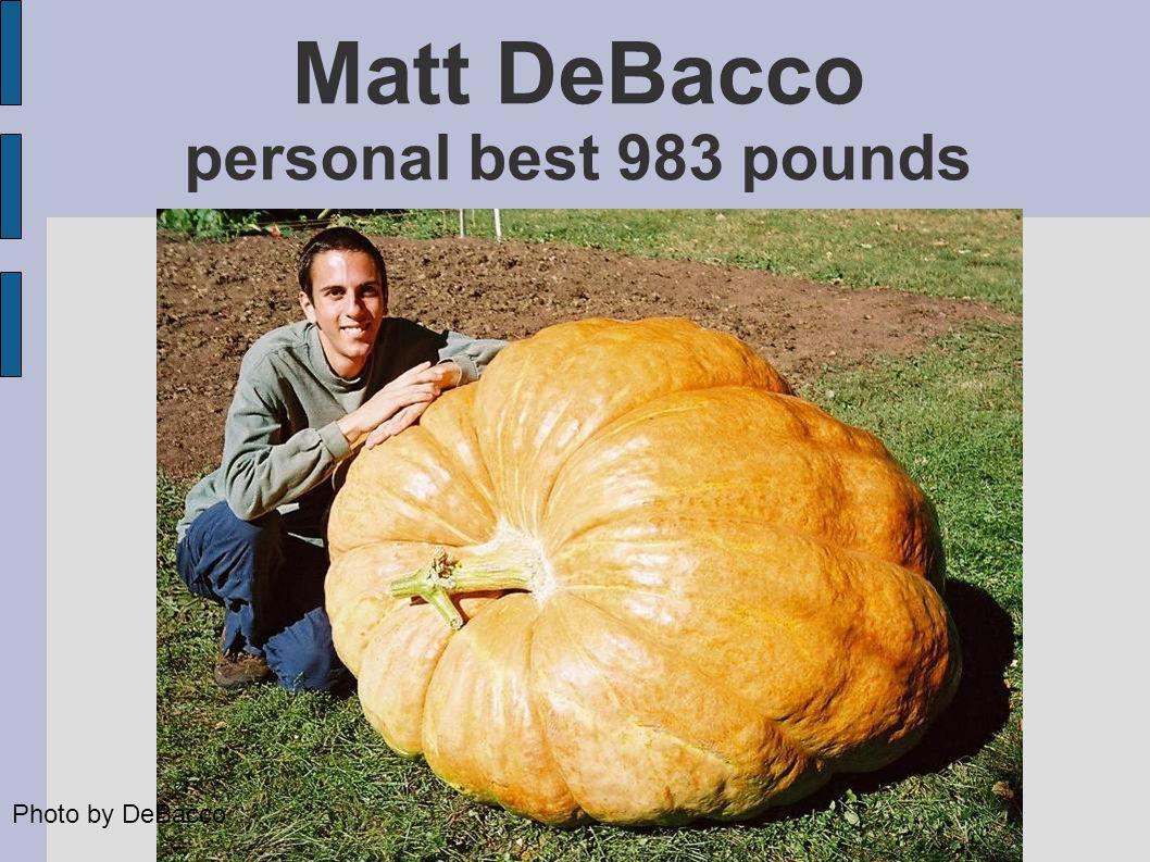 Matt DeBacco personal best 983 pounds Photo by DeBacco