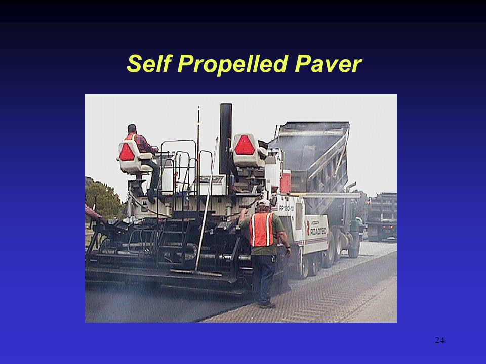 24 Self Propelled Paver