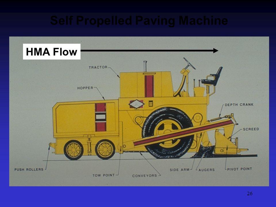 26 Self Propelled Paving Machine HMA Flow