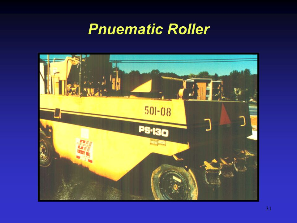 31 Pnuematic Roller