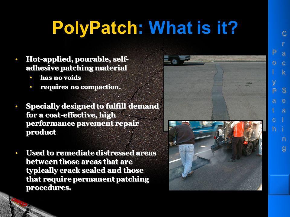 PolyPatch … asphalt binder for crack sealing