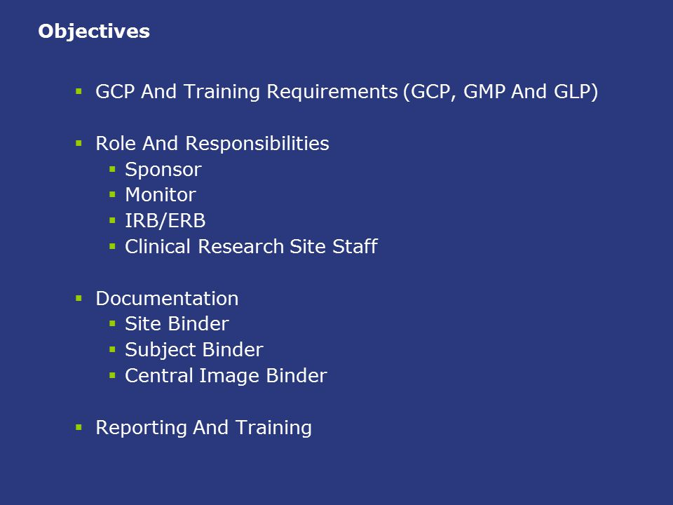 Good Clinical Practice is… … an international ethical and scientific quality standard for designing, conducting, recording, and reporting trials that involve the participation of human subjects.