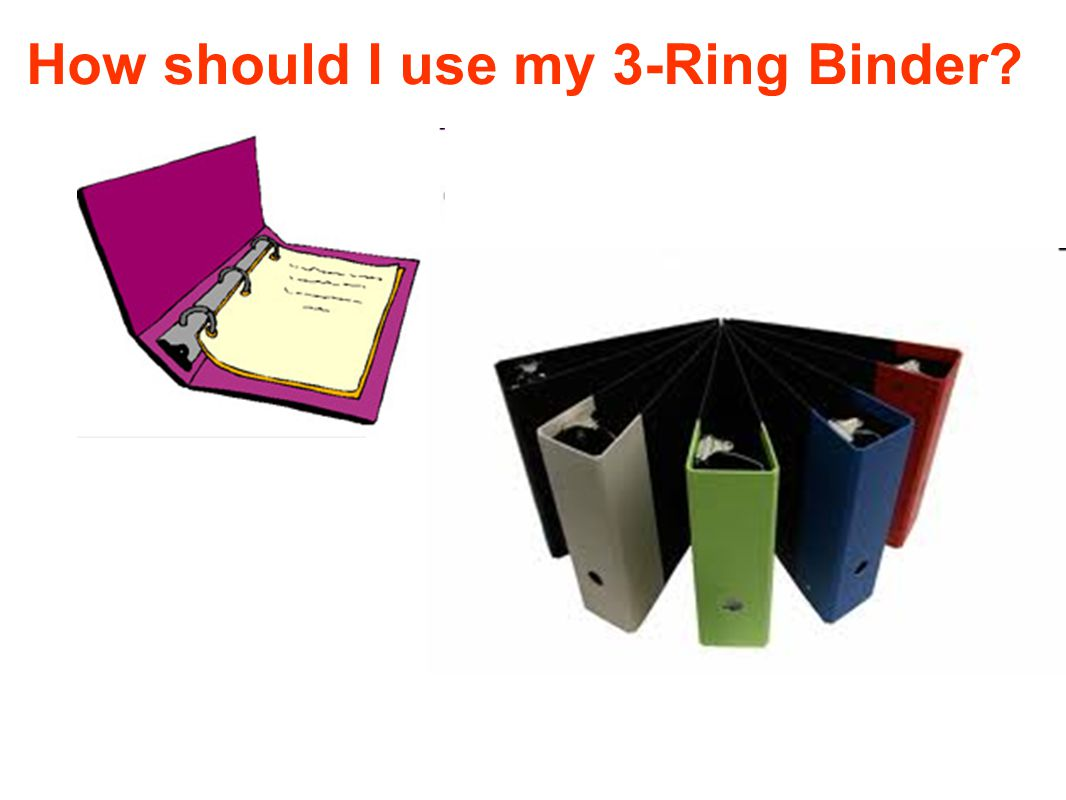 How should I use my 3-Ring Binder