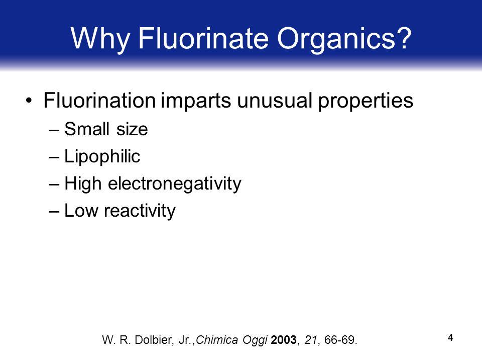 4 Why Fluorinate Organics.