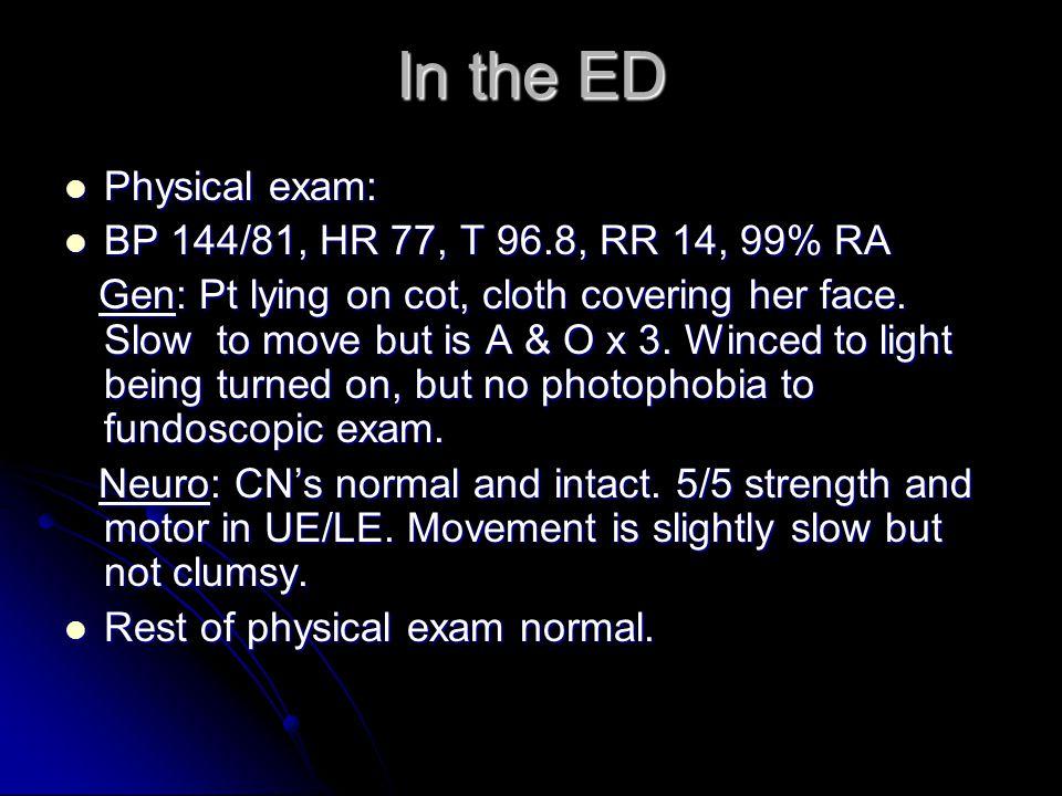 Radiology Impression: Orthostatic HA Radiology Impression: Orthostatic HA suspect spontaneous low CSF pressure HA.