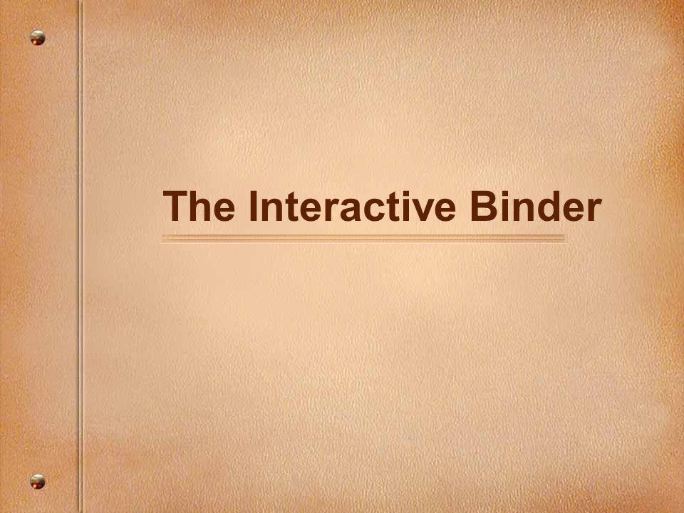 The Interactive Binder