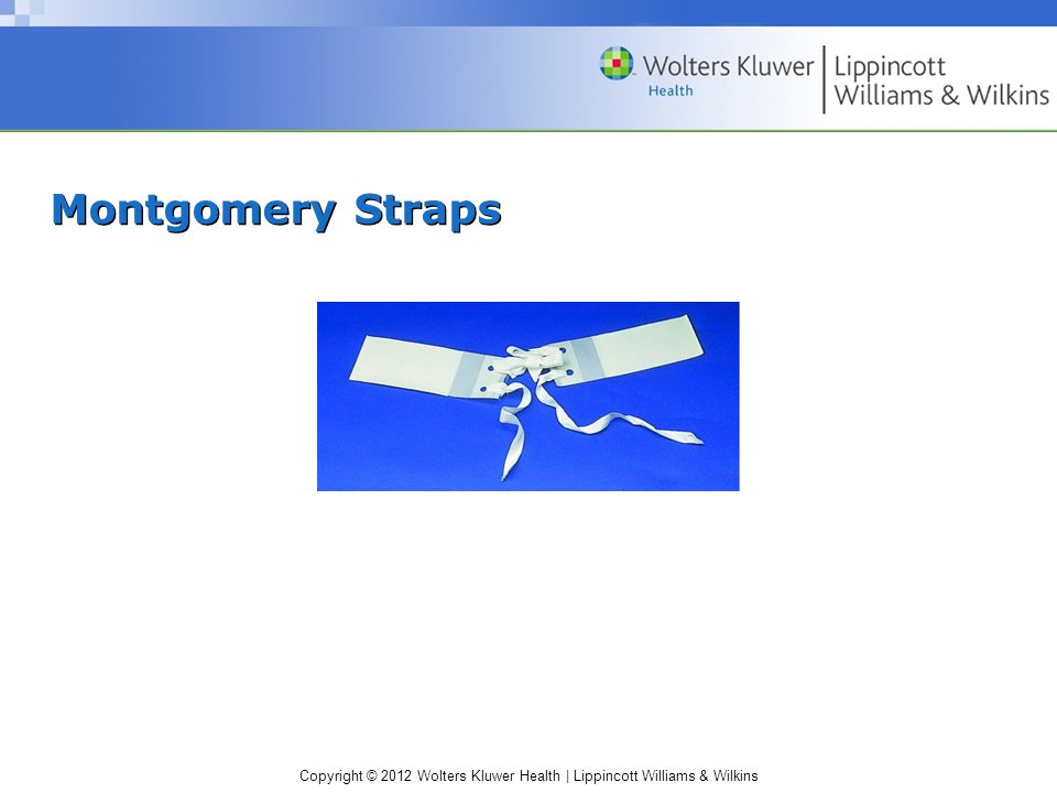 Copyright © 2012 Wolters Kluwer Health | Lippincott Williams & Wilkins Montgomery Straps