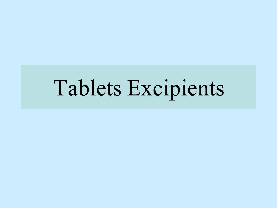Their role: To ensure that tablets of specified quality are prepared.