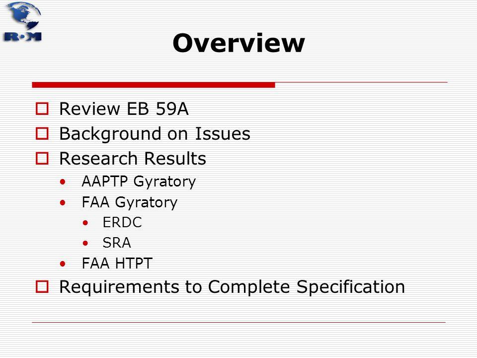Primary EB59A SuperPave Mix Design Criteria  > 60,000 lbs.