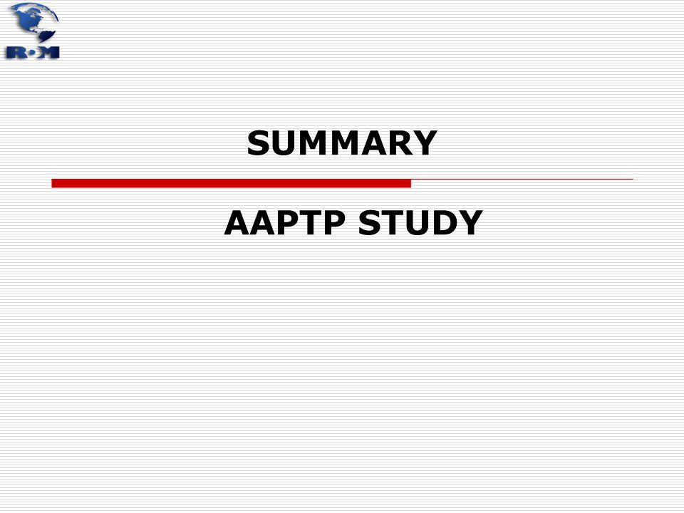 SUMMARY AAPTP STUDY