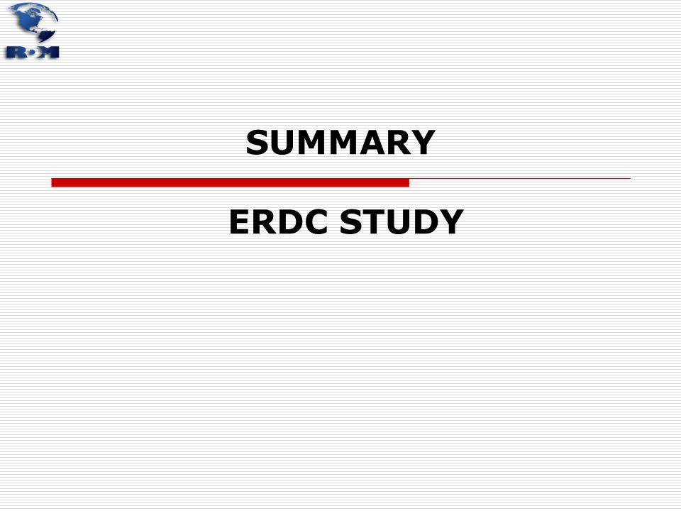 SUMMARY ERDC STUDY