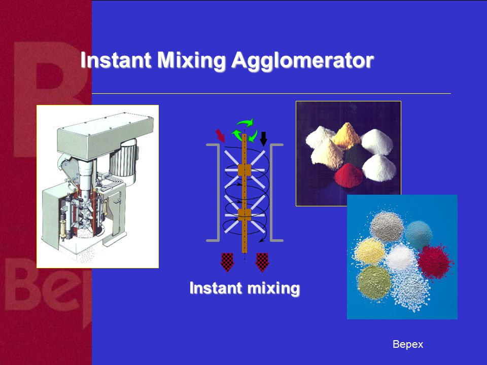 Bepex Instant Mixing Agglomerator Instant mixing