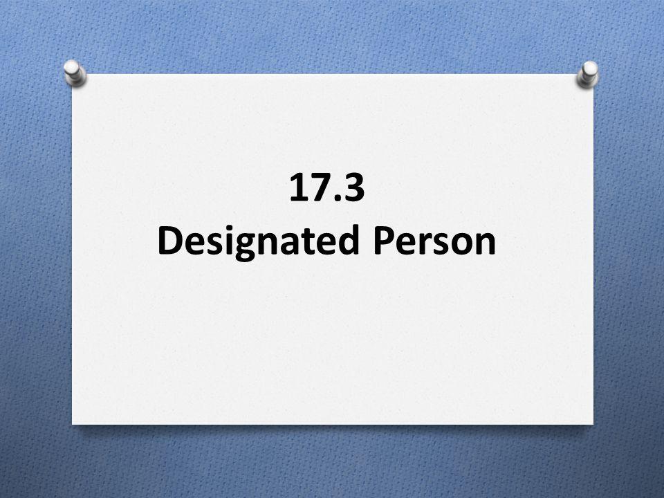 17.3 Designated Person