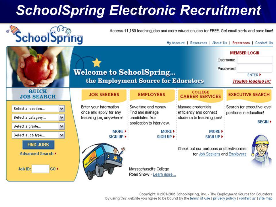 SchoolSpring Electronic Recruitment