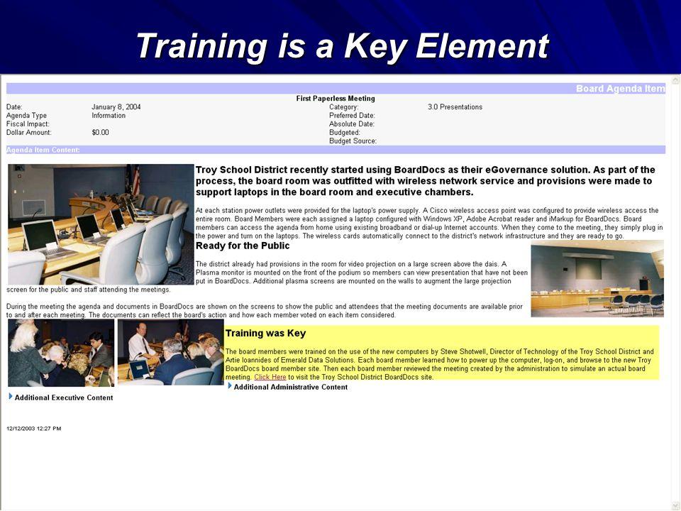 Training is a Key Element