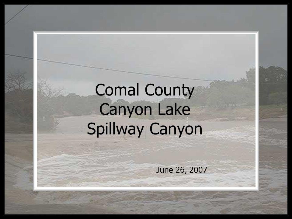 Comal County Canyon Lake Spillway Canyon June 26, 2007