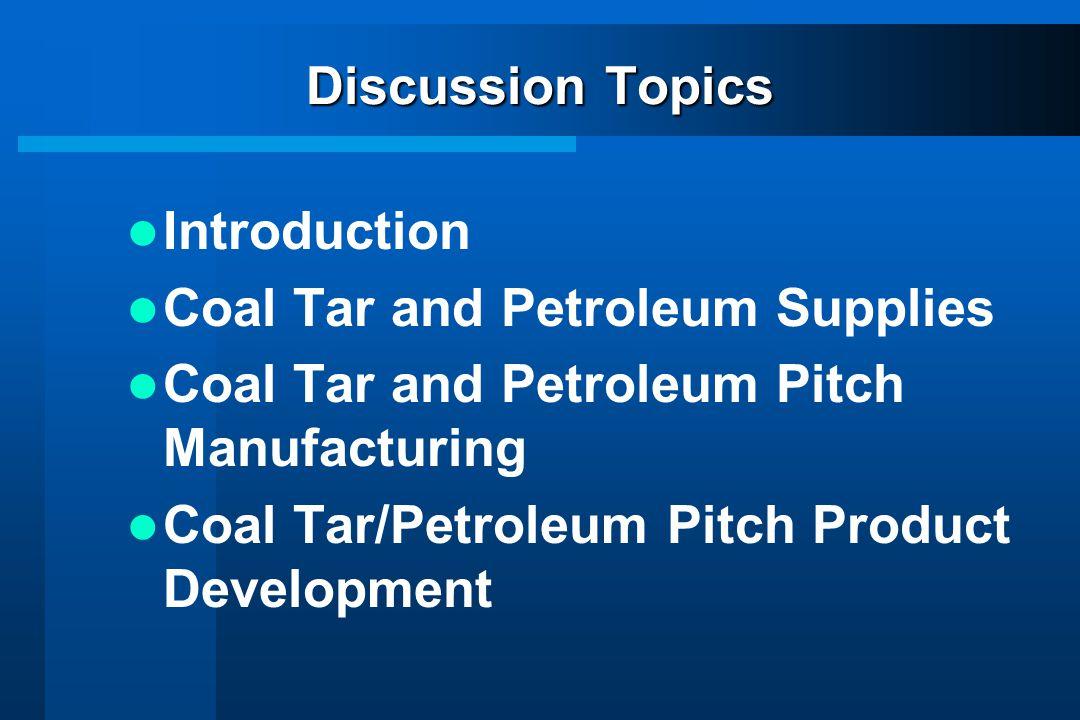 Coal Tar and Petroleum Pitch Manufacturing