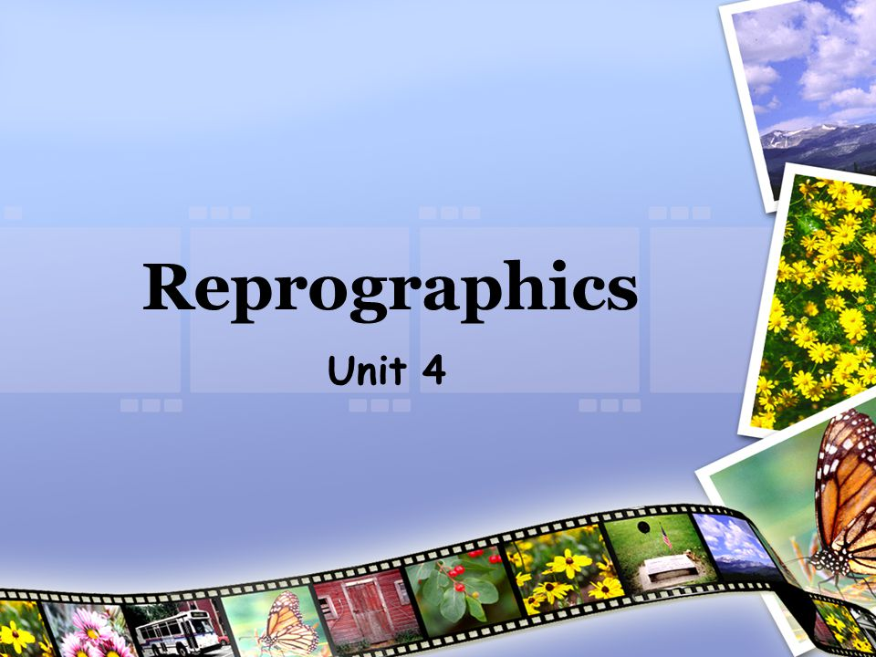 Click to return to Sum up slide REPROGRAPHICS DEPT In trays for photocopying Printer Photocopier for long runs Colour photocopier for short runs Reprographics assistant makes copies of booklets etc