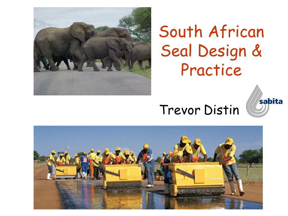 South African Seal Design & Practice Trevor Distin