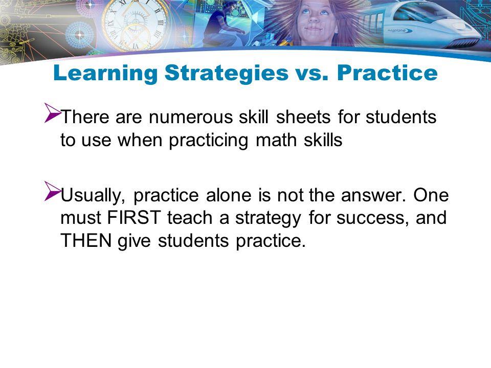 Learning Strategies vs.