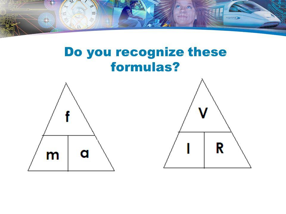 Do you recognize these formulas?