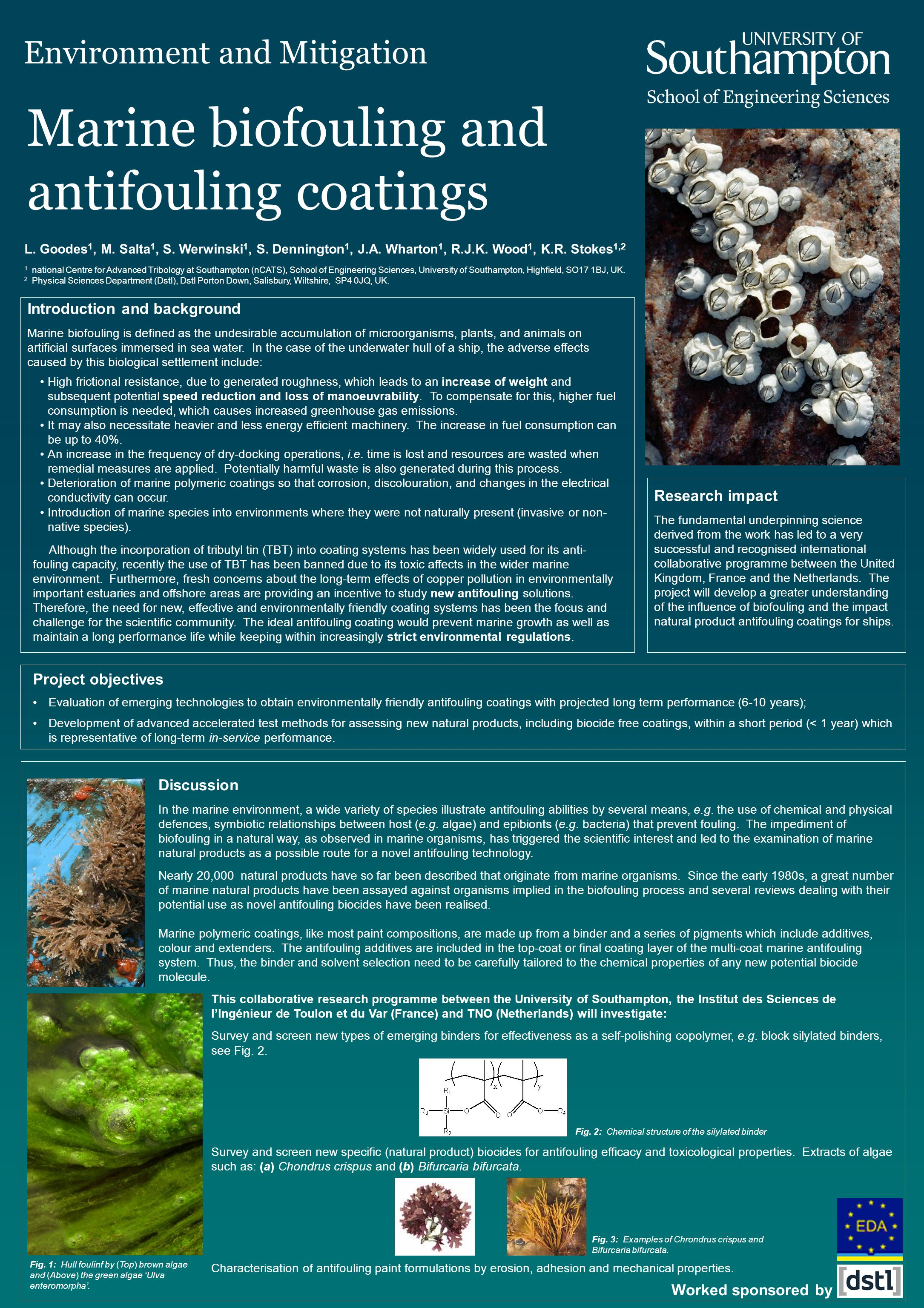 Marine biofouling and antifouling coatings L. Goodes 1, M.
