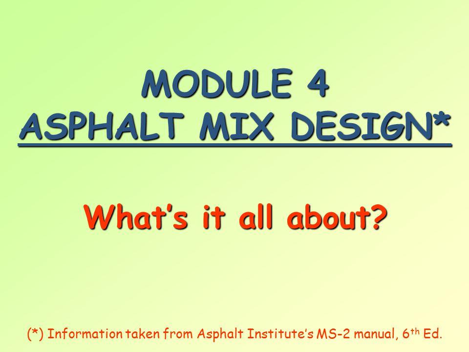 SCOPE  W W W What is a mix design.