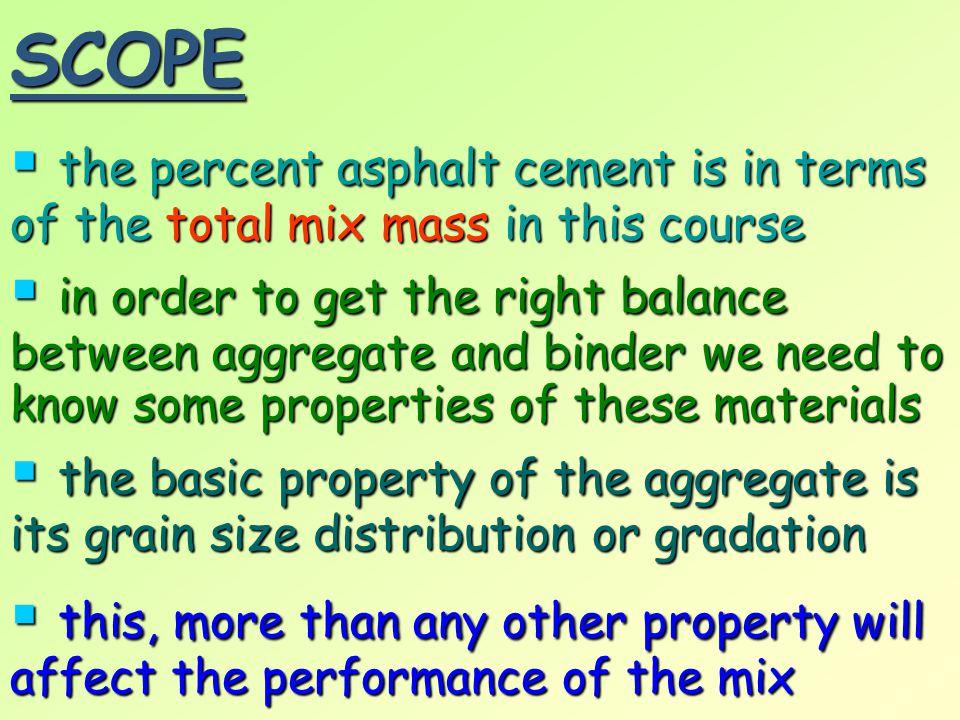 Tests on Mineral Aggregates Test/Property ASTM Designation AASHTO Designation Los Angeles Abrasion C 131 or C 535 T 96 Unit Weight C 29 T 19 Sieve Analysis (Aggregates) C 136 T 27 Sieve Analysis (Filler) D 546 T 37 Specific Gravity (Coarse) C 127 T 85 Specific Gravity (Fine) C 128 T 84 Specific Gravity (Filler) D 854 or C188 T 100 or T 133 Sulphate Soundness C 88 T 104 Sand Equivalent D 2419 T 176 Particle Shape D 4791 - Objective 3.02