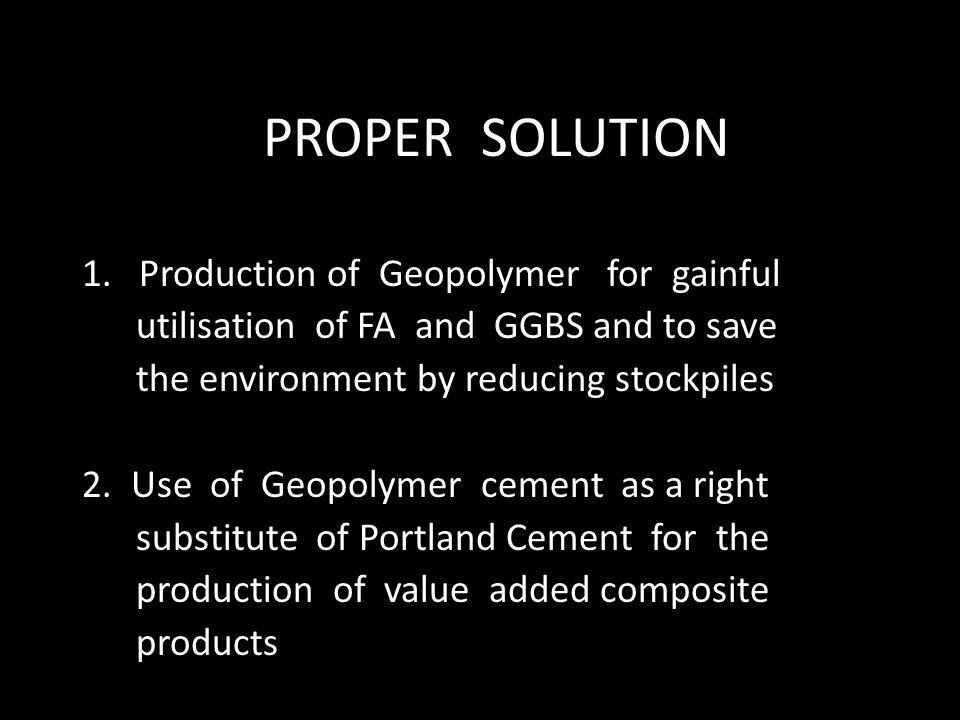 PROPER SOLUTION 1.