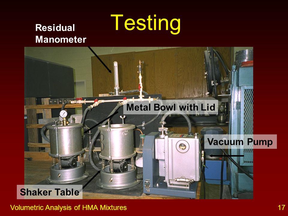 16Volumetric Analysis of HMA Mixtures Testing Loose Mix at Room Temperature