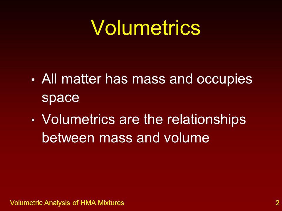 1Volumetric Analysis of HMA Mixtures VOLUMETRIC ANALYSIS OF HMA MIXTURES